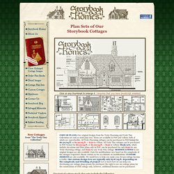 Storybook Homes » Plan Sets of Our Storybook Cottages