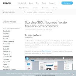 Storyline 360 : Nouveau flux de travail de déclenchement