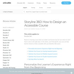 Storyline 360: How to Design an Accessible Course