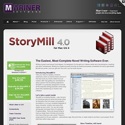 Mariner Software - Storymill - novel writing for Mac OS X.