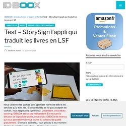 Test - StorySign l'appli qui traduit les livres en LSF