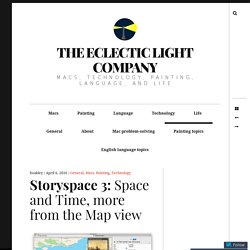 Storyspace 3: Space and Time, more from the Map view – The Eclectic Light Company