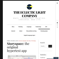 Storyspace: the original hypertext app