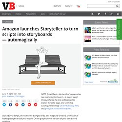 Amazon launches Storyteller to turn scripts into storyboards — automagically