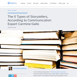 The 5 Types of Storytellers, According to Communication Expert Carmine Gallo – Prezi Blog