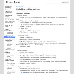 Digital Storytelling Activities - Richard Byrne