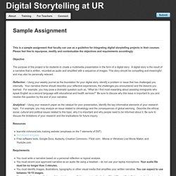 Digital Storytelling at UR