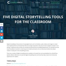 Five Digital Storytelling Tools for the Classroom | CampusPress
