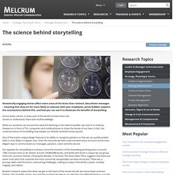 The science behind storytelling