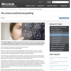 The science behind storytelling
