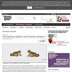 Storytelling digital: quel format adopter
