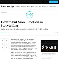 How to Put More Emotion in Storytelling