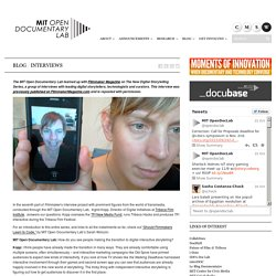 The New Digital Storytelling Series: Ingrid Kopp - Open Documentary Lab at MIT