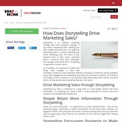 How Does Storytelling Drive Marketing Sales?