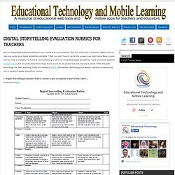 Digital Storytelling Evaluation Rubrics for Teachers