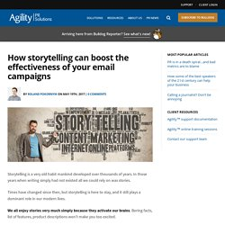 How storytelling can boost the effectiveness of your email campaigns - Agility PR Solutions