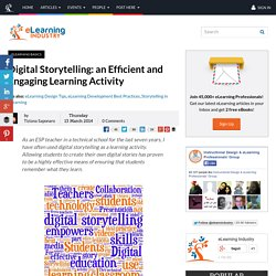 Digital Storytelling: an Efficient and Engaging Learning Activity