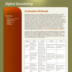 Digital Storytelling - Evaluation Methods