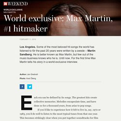 Di Storytelling – Max Martin - world exclusive interview - Di Storytelling