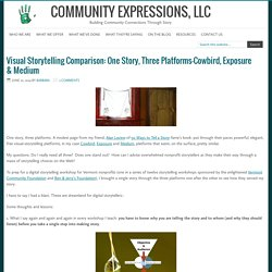 Visual Storytelling Comparison: One Story, Three Platforms–Cowbird, Exposure & Medium – Community Expressions, LLC