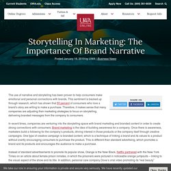 Storytelling in Marketing: The Importance of Brand Narrative
