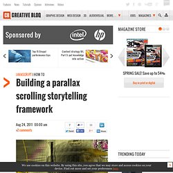 Building a parallax scrolling storytelling framework