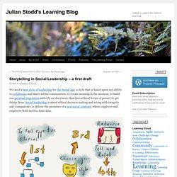 Storytelling in Social Leadership – a first draft