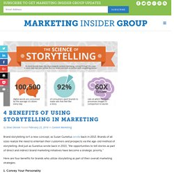 4 Benefits Of Using Storytelling In Marketing