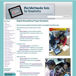 Digital Storytelling Project Examples - iPad Multimedia Tools