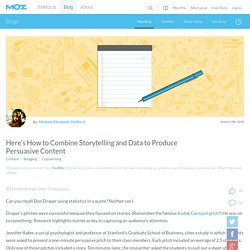 Here's How to Combine Storytelling and Data to Produce Persuasive Content