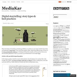 Digital storytelling: story types & best practices