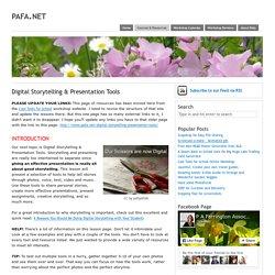 Digital Storytelling & Presentation Tools - pafa.net – pafa.net