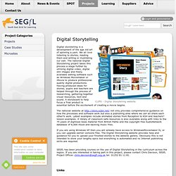 Digital Storytelling - Projects - South East Grid for Learning