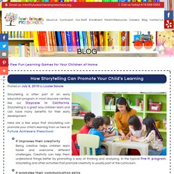 How Storytelling Can Promote Your Child's Learning