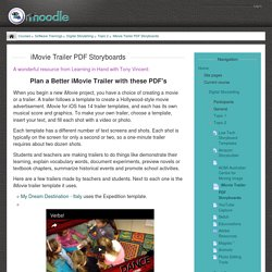 Digital Storytelling: iMovie Trailer PDF Storyboards