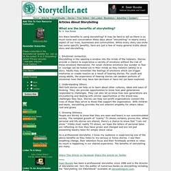 Storytelling, Storytellers, Stories, Story, Storytelling Techniques, Hear a Story, Read Stories, Audio Stories, Find Tellers, How to Tell A Story - Articles About Storytelling