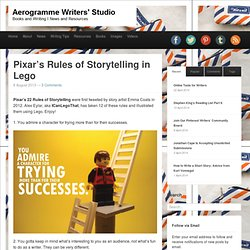 Pixar's Rules of Storytelling in Lego