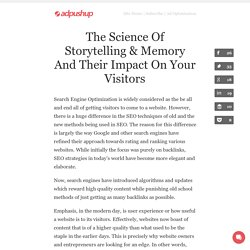 The Science Of Storytelling & Memory And Their Impact On Your Visitors