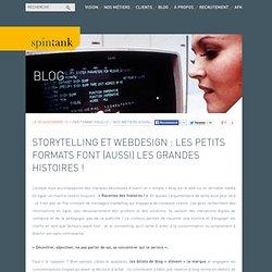 Storytelling et webdesign : les petits formats font (aussi) les grandes histoires !
