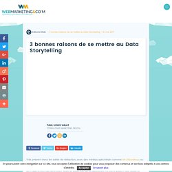 ▷ 3 bonnes raisons de se mettre au Data Storytelling