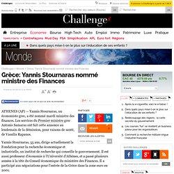 Grèce: Yannis Stournaras nommé ministre des Finances