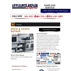Oven & Stove Repair Services