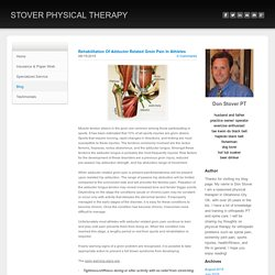 STOVER PHYSICAL THERAPY - Blog