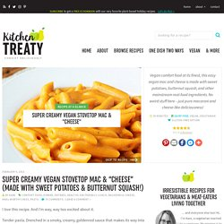 "Creamy Vegan Stovetop Mac & ""Cheese"" - Kitchen Treaty Recipes"