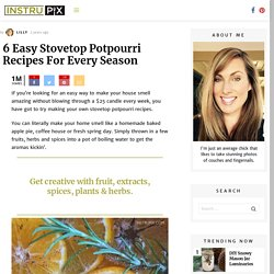 6 Easy Stovetop PotPourri Recipes For Every Season
