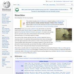 Stracchino - Wikipedia