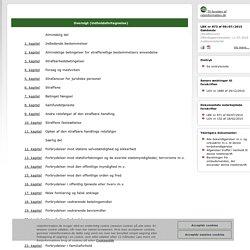Straffeloven - Bekendtgørelse af straffeloven
