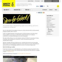 Skriv för frihet Rättvisa och straffrihet Mänskliga rättigheter Amnesty