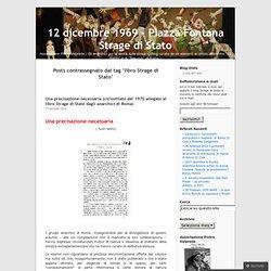 12 dicembre 1969 - Piazza Fontana Strage di Stato