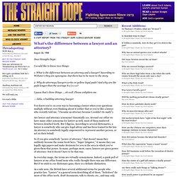 Straight Dope